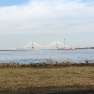 View of Charleston Bridge from James Island.