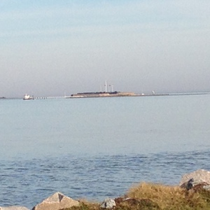 Fort Sumter from James Island.