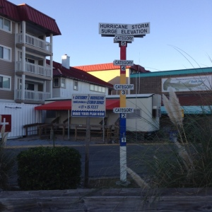 Storm Surge Warning Indicator on Tybee Island