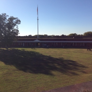 A view of the inside of the grounds from on top of Fort Pulaski