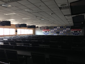 Media Center.  Looking from the back of the room toward the podium.