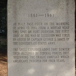 A close up of the inscription on the monument.