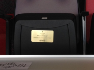 "Some people ""purchase"" their seats and when they do, they get a gold plaque put on their seat to identify that it's theirs."