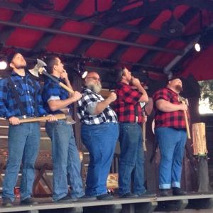 Canadian Lumberjacks at World Showcase (Canada).