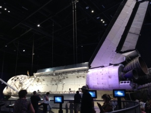 One of the Space Shuttles.  I was standing quite a ways away from it in order to get the majority of it in the picture.