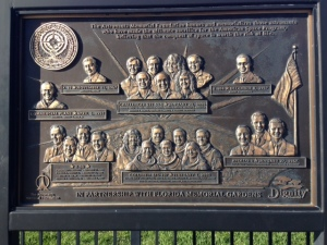 One of the many plaques and tributes to the astronauts who lost their lives.