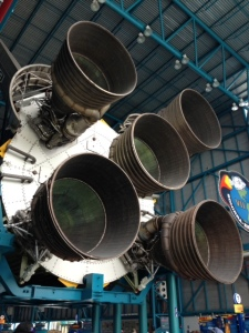 The rockets on Atlas Spacecraft.