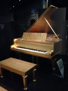 Elvis's gold piano at the Country Music Hall of Fame.