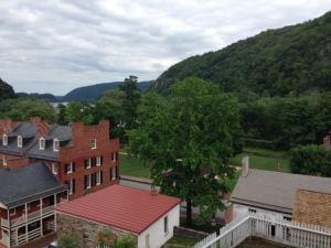 Looking down on the town of Harpers Ferry.