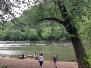 Looking across the Shenandoah River at Virginia from Harpers Ferry in West Virginia.