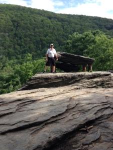 Rick standing near Jefferson's Rock.