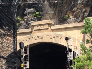 Harpers Ferry train tunnel that is still in use today.