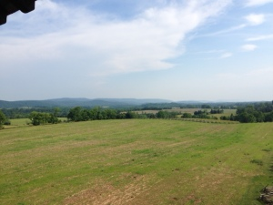 View of the battlegrounds looking out from the Observation Tower.